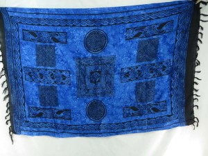 Celtic Blue Sarong Tapestry Wall Hanging Altar Cloth