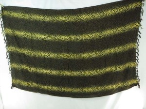brown golden yellow stripes animal print sarong