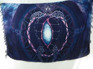 wholesale pareo deep blue large turtle sarong