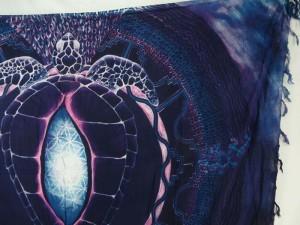 wholesale pareo deep blue large turtle sarong