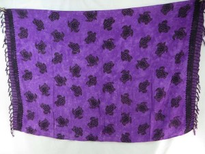 sealife turtle purple sarong wholesale pareo