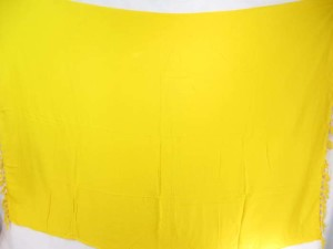 solid yellow color sarong beach resort wear