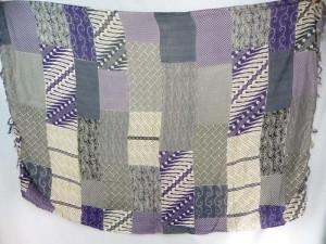 hippie chic sarong purple grey patch blocks