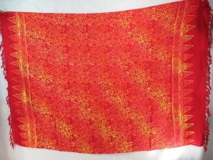 double processs red gold sarong mini branches design