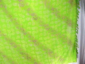 green sarong feather desing