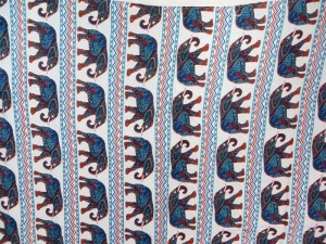 mosaic elephant zig zag stripe sarongs blue white beach resort wear
