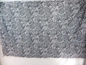 black swirls sarongs with white background