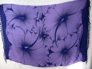 purple giant hibiscus sarong