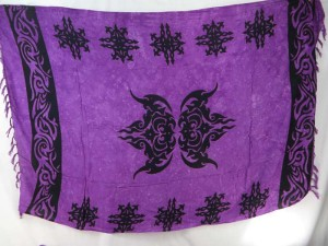 purple tattoo celtic knots sarong shawl tapestry curtain throw