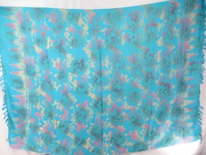 double process turquoise bohemian hippie beach wrap sarong