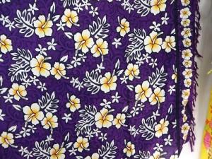 purple hibiscus Hawaiian Aloha sarong
