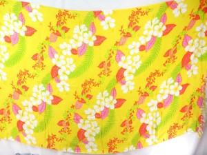 yellow lei tropical design aloha sarong