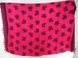 fuchsia turtle sarong Hawaiian wrap dress