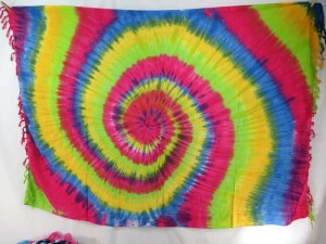 tie dye swirl /double heart / double eye mixed dolors sarong