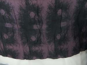boho light purple black sarong