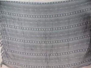 black animal print on white background sarong