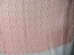 boho paisley orange sarong on white background