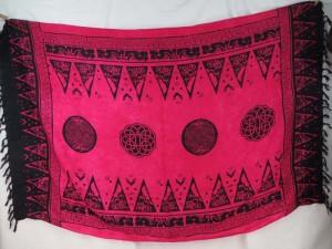 fuchsia celic circles sarong, Pagan wiccan sarong, Ritual Decoration sarong