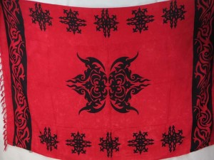 tattoo primitive design red sarong