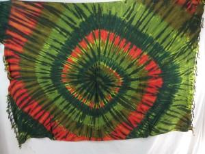 tie dye swirl mixed dolors sarong