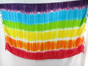 tiedye horizontal stripes mix color sarong