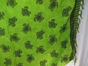 green Hawaiian sarongs turtle