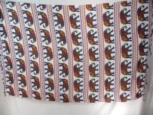 mosaic elephant zig zag stripe sarongs pink blue white