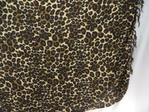 animal print sarong brown black