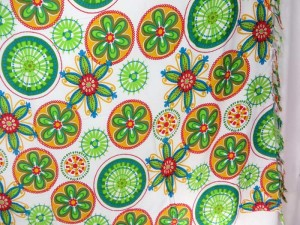 Green orange white sarong pareo Mandala circles wrap beach cover-up