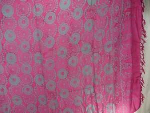 grey mandala circles fuchsia sarong