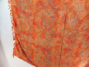 orange sarong bohemian vintage inspired summer clothes for girls