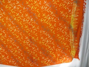 orangle golden yellow small branches sarong