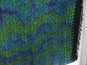 green blue purple double process tree leaves sarong