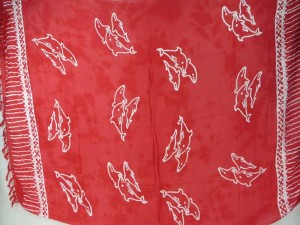 red monocolor sarong