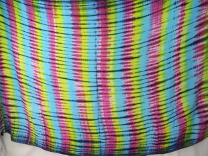 rainbow verticle stripes tie dye sarong