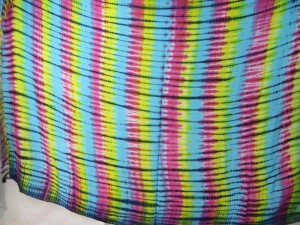rainbow verticle stripes tie dye sarong
