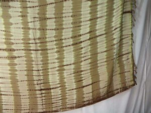 earth color verticle stripes tie dye sarong