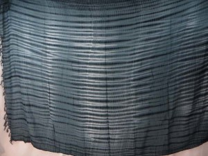 blue grey horizontal stripes tie dye sarong