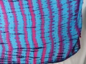 fuchsia blue verticle stripes tie dye sarong