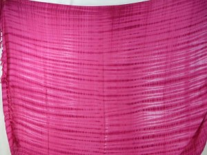 pink horizontal stripes tie dye sarong