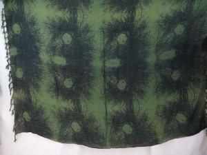 boho print green black sarong