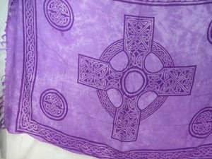 Celit cross Irish high cross purple sarong