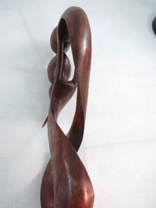 extra large size hard wood abstract carving love couples