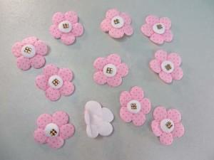 felt padded flower applique / scrapbooking craft DIY / wedding decoration