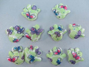 green sequins hand padded applique / scrapbooking craft DIY / wedding decoration