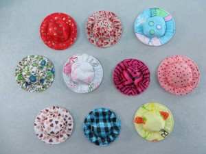 hats padded applique / scrapbooking craft DIY / wedding decoration