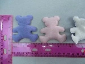 bears felt padded applique / scrapbooking craft DIY / wedding decoration