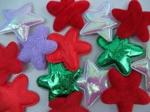 stars padded applique / scrapbooking craft DIY / wedding decoration
