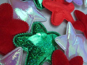 stars padded applique / scrapbooking craft DIY / wedding decoration