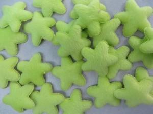 green star felt padded applique / scrapbooking craft DIY / wedding decoration